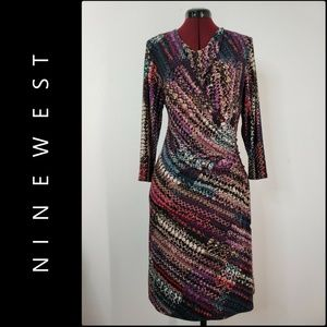Nine West Woman Long Sleeve Wrap Dress Size 14